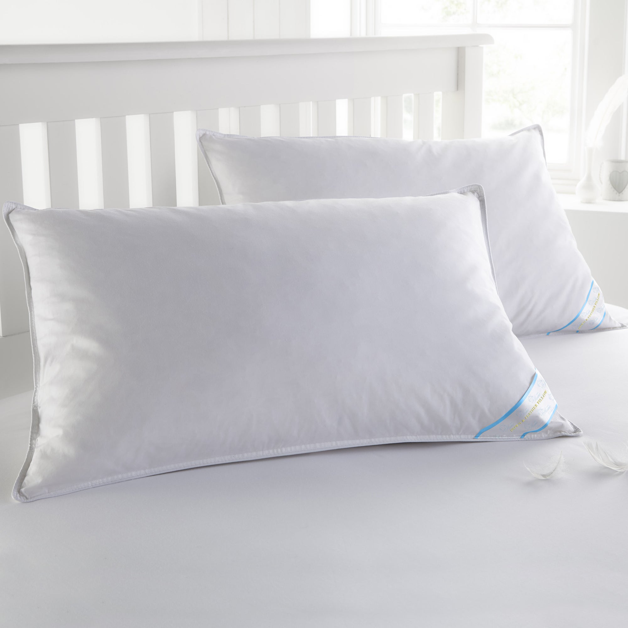 Sweet Home Collection Luxury Natural Feather Bed Pillows ...