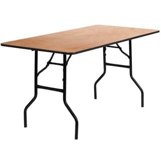 Natural Wood Folding Table