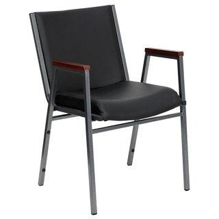 Hercules Series Black Vinyl Metal Stack Chair