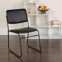 Black Vinyl Metal Stack Chair
