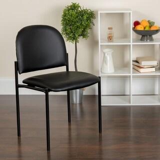 Black Vinyl Metal Stack Chair