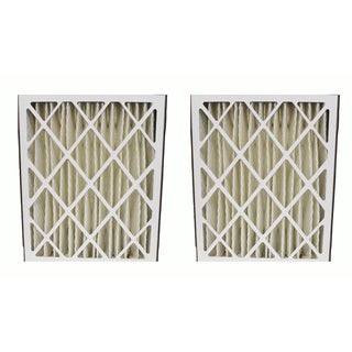 2PK Carrier MF2025 and M8-1056 Pleated Furnace Air Filter 20x25x5 MERV 8