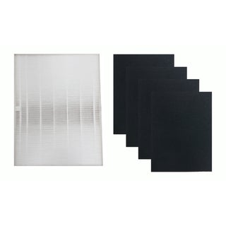Replacement HEPA Style Filter & 4 Carbon Filters, Fits Fellowes AP-300PH Air Purifier, Compatible with Part HF-300