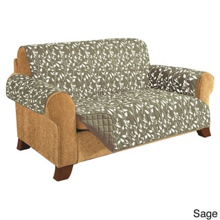 Elegant Comfort - Leaf Design QUILTED Reversible Furniture Protector