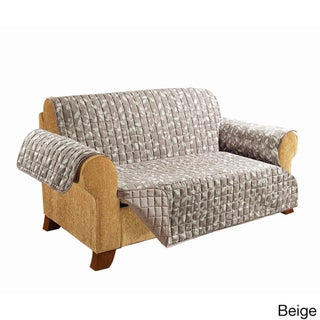 Elegant Comfort Leaf Design Quilted Reversible Sofa Furniture Protector
