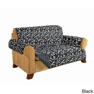 Elegant Comfort - Leaf Design QUILTED Reversible Furniture Protector (Option: Black)