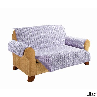 Elegant Comfort - Leaf Design QUILTED Reversible Furniture Protector (Option: Purple)