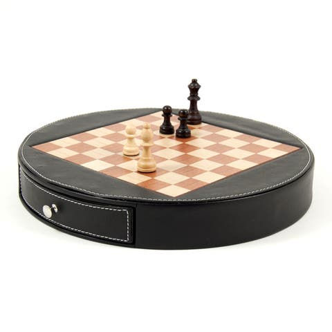 Bey Berk 'Check Mate' Leather Chess Set