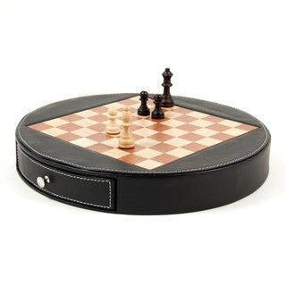 Bey Berk 'Check Mate' Leather Chess Set