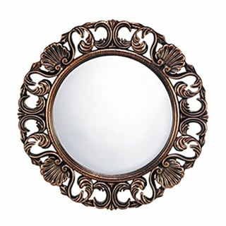 Clover Round Wall Mirror - Antique Gold. Opens flyout.
