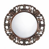 Clover Round Wall Mirror - Antique Gold