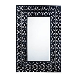 Authentic European - Moroccan Style Mirror - Black/White