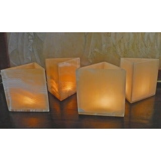 Handmade Set of 4 Pyramid Votive Candles (Egypt)