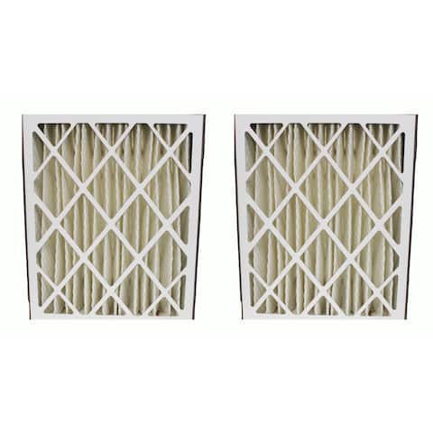 2pk Replacement 20x25x5 MERV-8 Pleated HVAC Filters, Fits GeneralAire