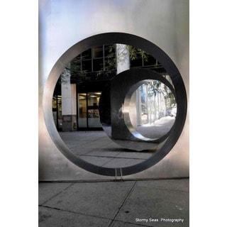 Circular Reflection Print Wall Art