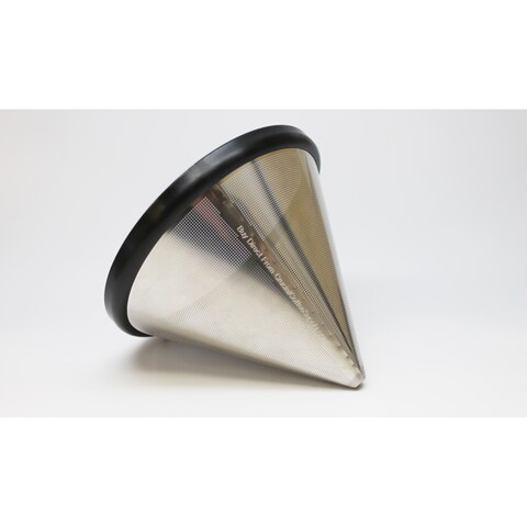 Think Crucial Washable & Reusable Stainless Steel Cone Coffee Filter Fits Chemex®-Brand 6, 8 & 10 Cup Coffee Makers