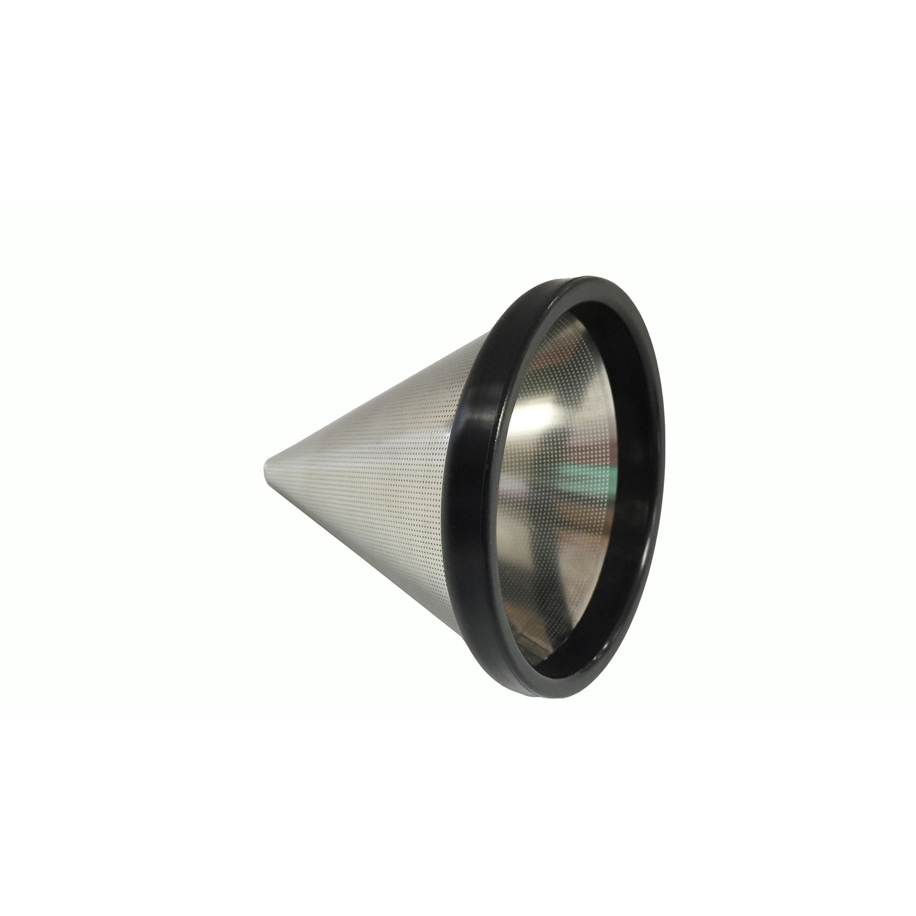 Crucial Reusable Stainless Steel (Silver) Cone Coffee Fil...