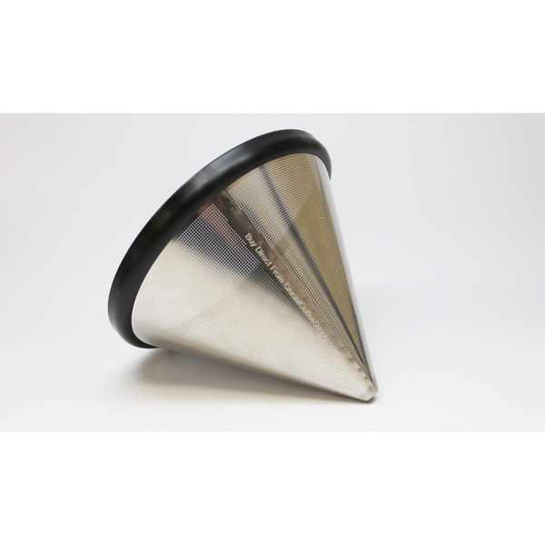 Replacement Stainless Steel Cone Coffee Filter, Fits Hario V60 02 & 03 Coffee Drippers, Washable & Reusable