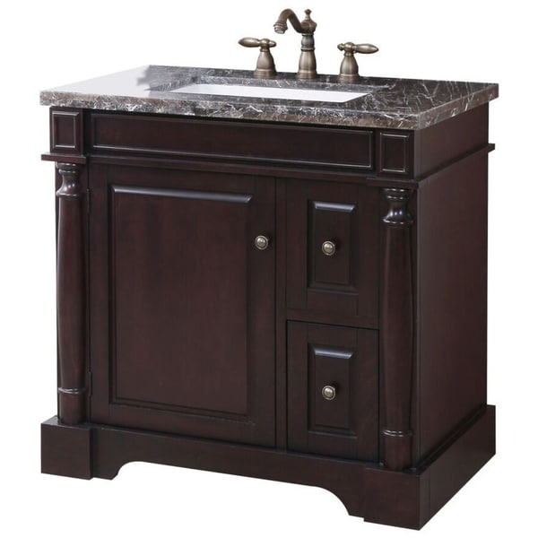 Shop crawford burke hancock vanity base with stone top - Crawford and burke bathroom vanity ...