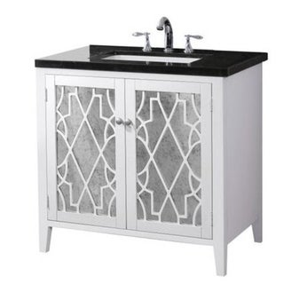 Shop crawford burke evelyn vanity base with stone top - Crawford and burke bathroom vanity ...