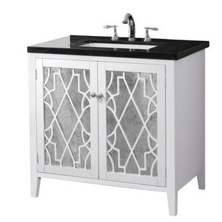 Crawford & Burke Evelyn Vanity Base with Stone Top and Sink