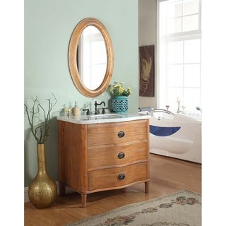 Crawford & Burke Georgia 36-inch Vanity Base with Pieced Stone Top and Sink