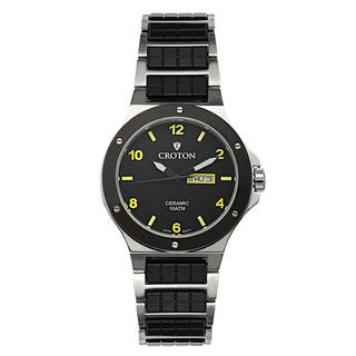 Croton Men's CN307500SSYL Ceramic & Stainless Steel Black Day & Date Watch|https://ak1.ostkcdn.com/images/products/10620410/P17690679.jpg?impolicy=medium