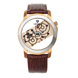 Croton Men's CR307931BRSK Tungsten Goldtone See Thru Dial Watch (Option: Brown)|https://ak1.ostkcdn.com/images/products/10620422/P17690690.jpg?_ostk_perf_=percv&impolicy=medium
