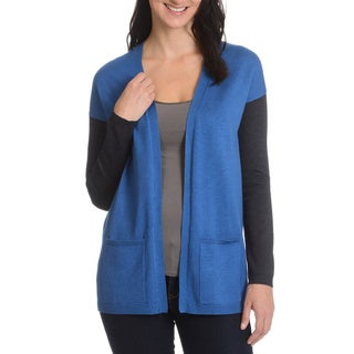 Cyrus Women's Color Block Open Front Cardigan