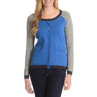 Cyrus Women's Color Block Raglan Button-up Cardigan