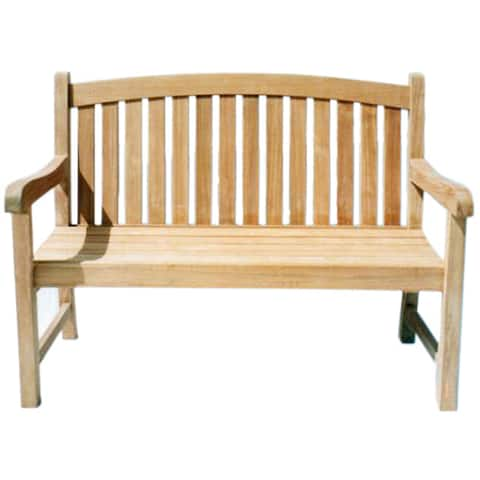 D-Art Collection Teak Wood Captain 2 Seater Bench - N/A