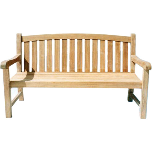 Handmade D-Art Teak Captain 3-seater Bench (Indonesia) (Natural Color No oils)