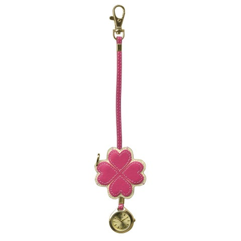 Dakota Moxie Pink Heart Hanging Purse Charm Clock