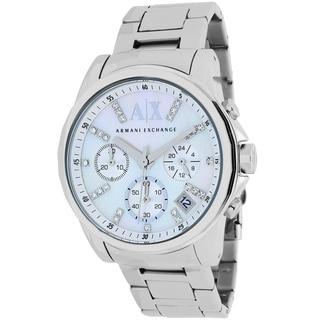 Armani Exchange Women's AX4324 Classic Round Silvertone Stainless Steel Bracelet Watch