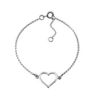 Handmade Special Romance Open Heart .925 Sterling Silver Bracelet (Thailand)