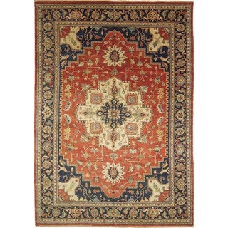 Indo Serapi Heriz Abigail Rust Hand-knotted Rug, (12'0 x 18'1)