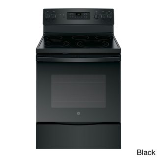 GE Black on Black 30-inch Free-standing Electric Convection Range