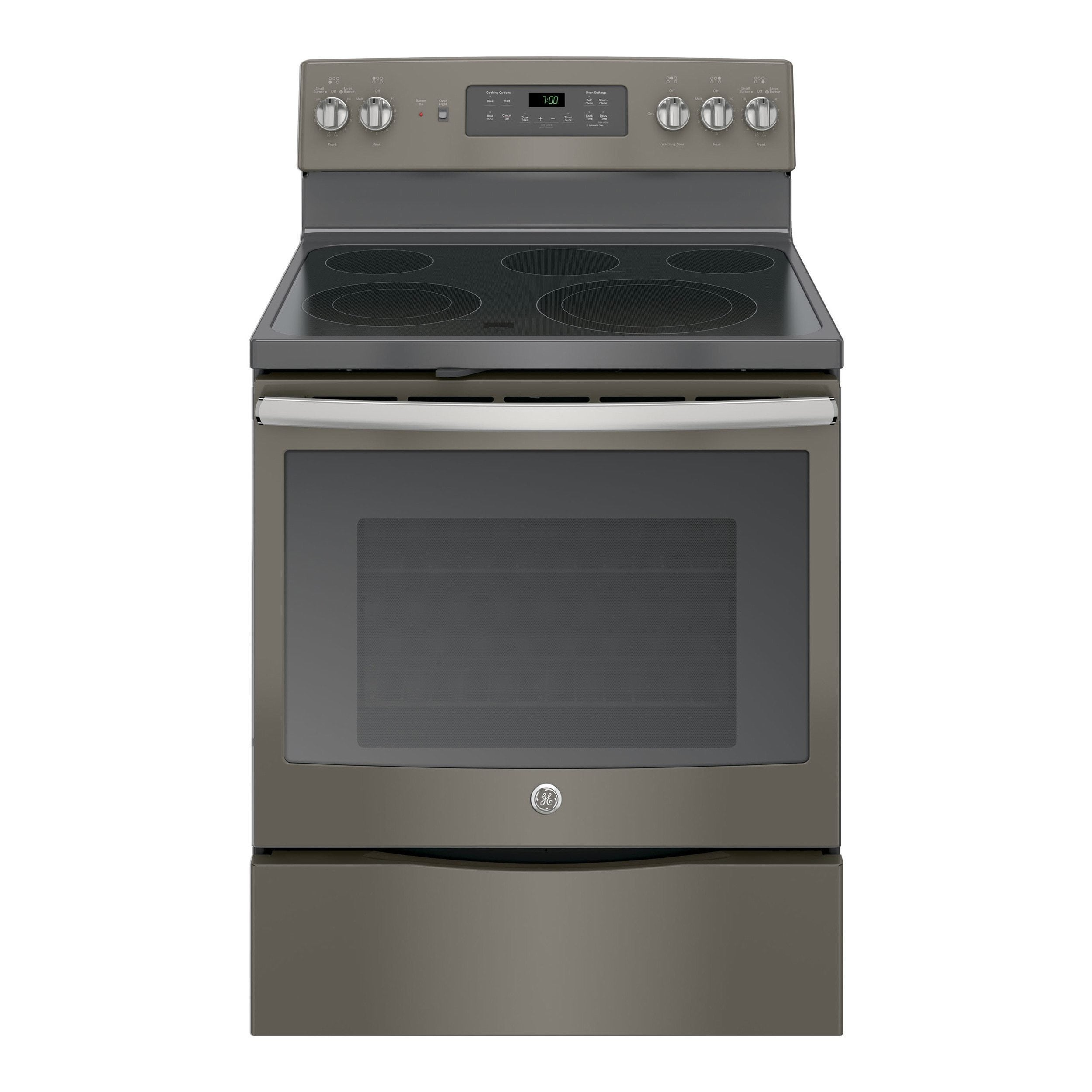GE Black on Black 30-inch Free-standing Electric Convecti...