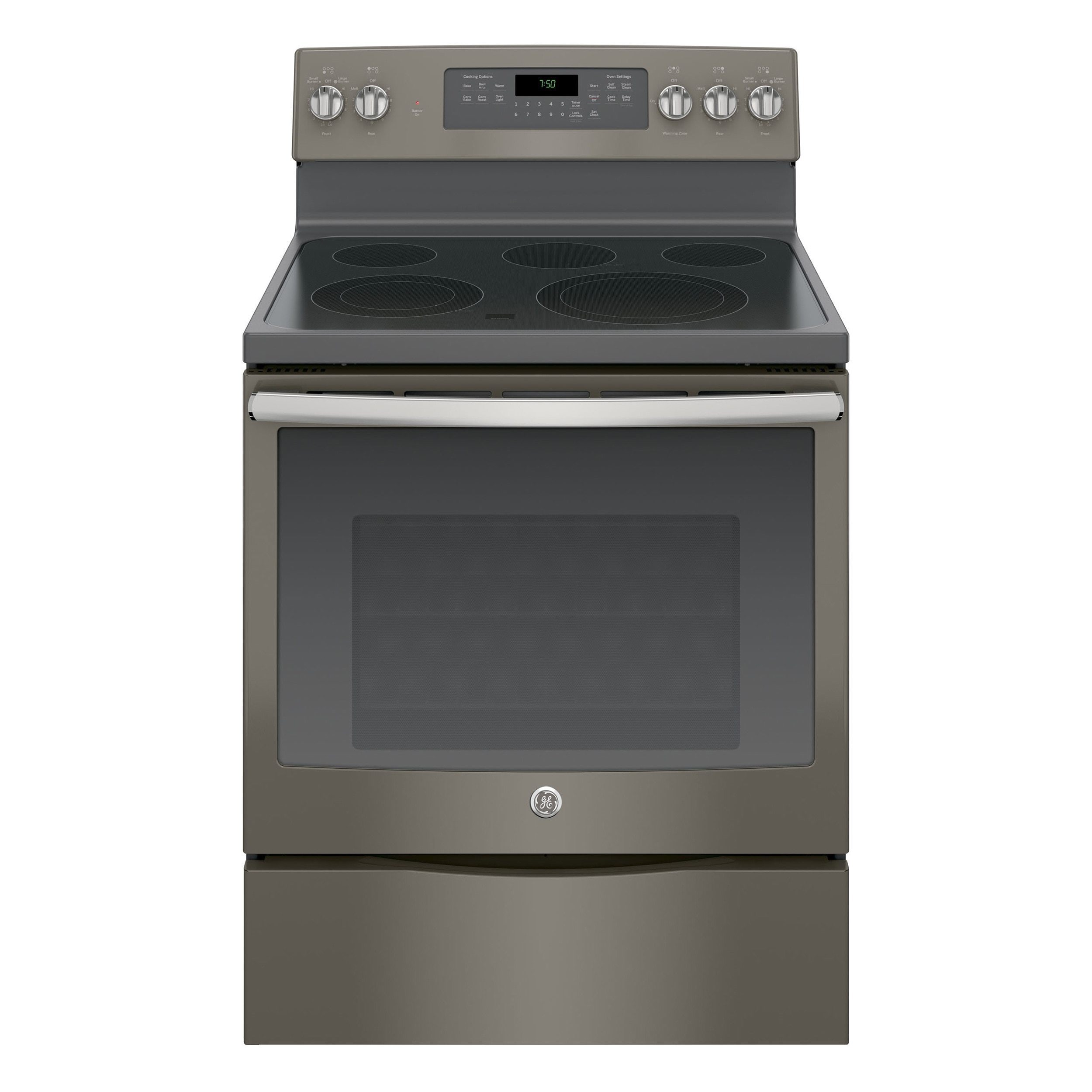 GE 30-inch Free-standing Electric Convection Range (Silve...