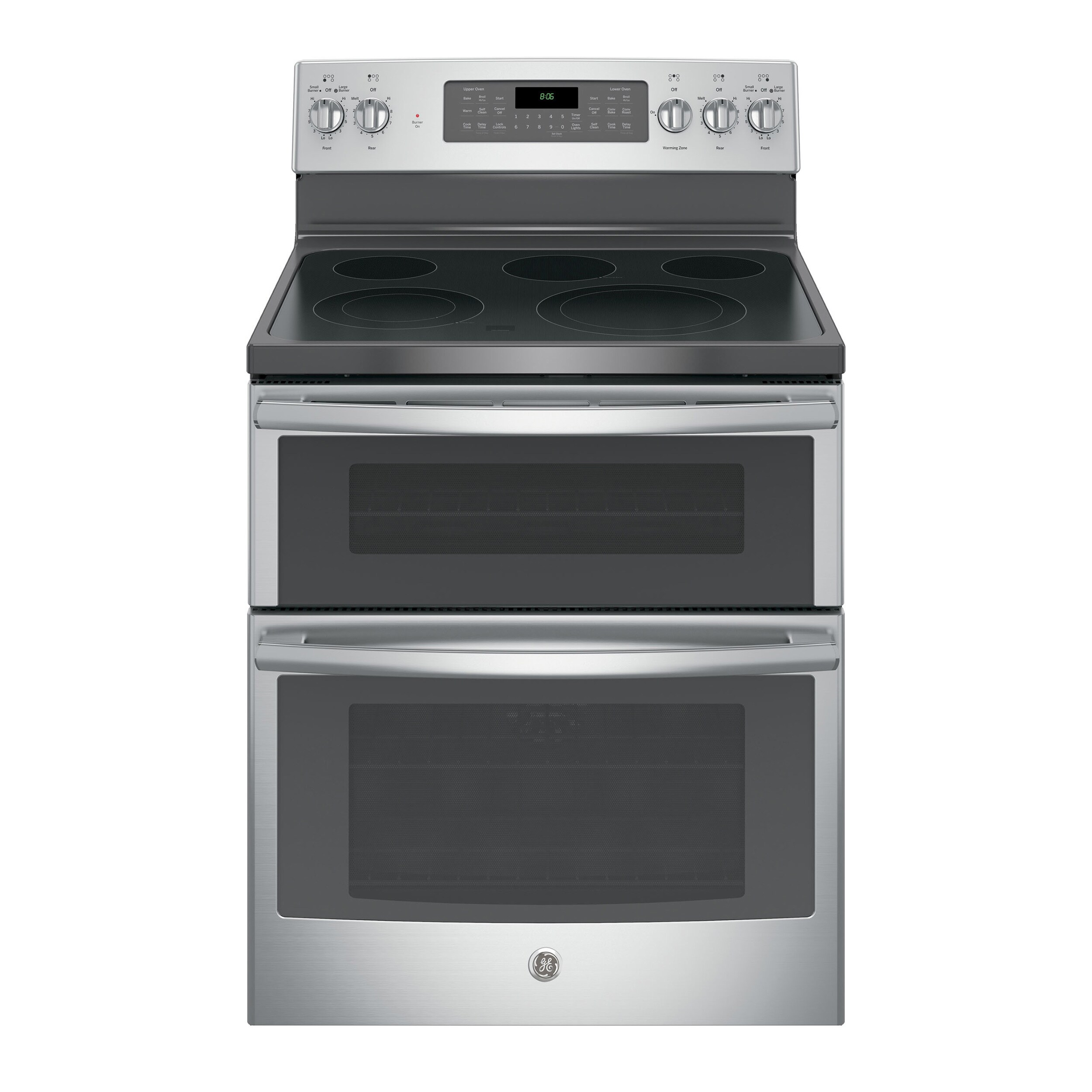 GE Black 30-inch Free-standing Electric Double Oven with ...