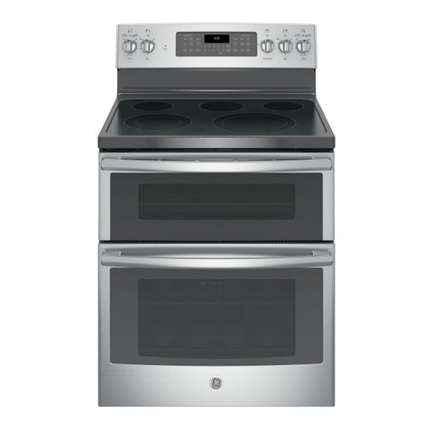 GE Black 30-inch Free-standing Electric Double Oven with Convection Range