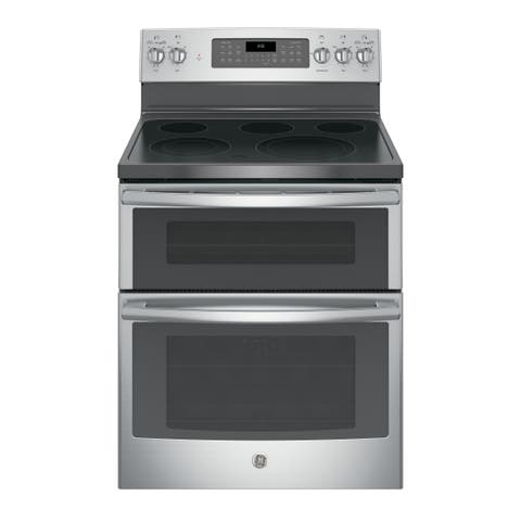 GE 30 IN Free Standing Electric Double Oven Convection Range in Slate