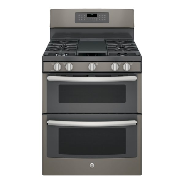 shop ge 30 inch free standing gas double oven with convection range free shipping today. Black Bedroom Furniture Sets. Home Design Ideas