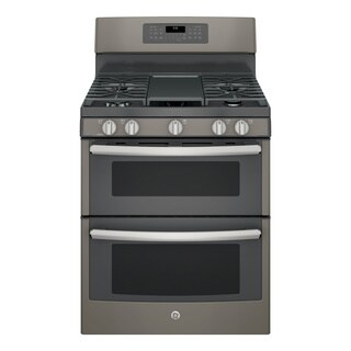 GE 30-inch Free-standing Gas Double Oven with Convection Range (Option: White)