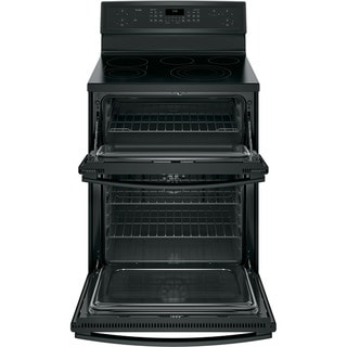 GE Black on Black Profile 30-inch Free-standing Electric Convection Range with Warming Drawer
