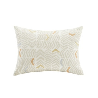 Ink+Ivy Lina Embroidered Cotton Oblong Pillow