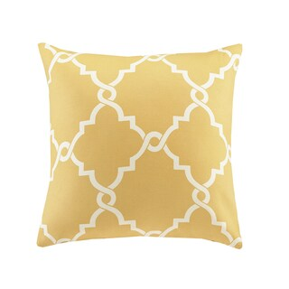 Clay Alder Home Denver Fretwork Print 20-inch Square Pillow with Zipper Closure