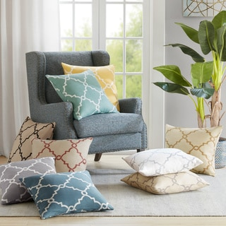Madison Park Westmont Fretwork Print 20-inch Square Pillow with Zipper Closure