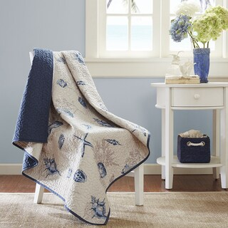 Madison Park Nantucket Oversized Quilted Throw