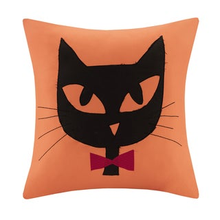 Madison Park Black Cat Square Pillow